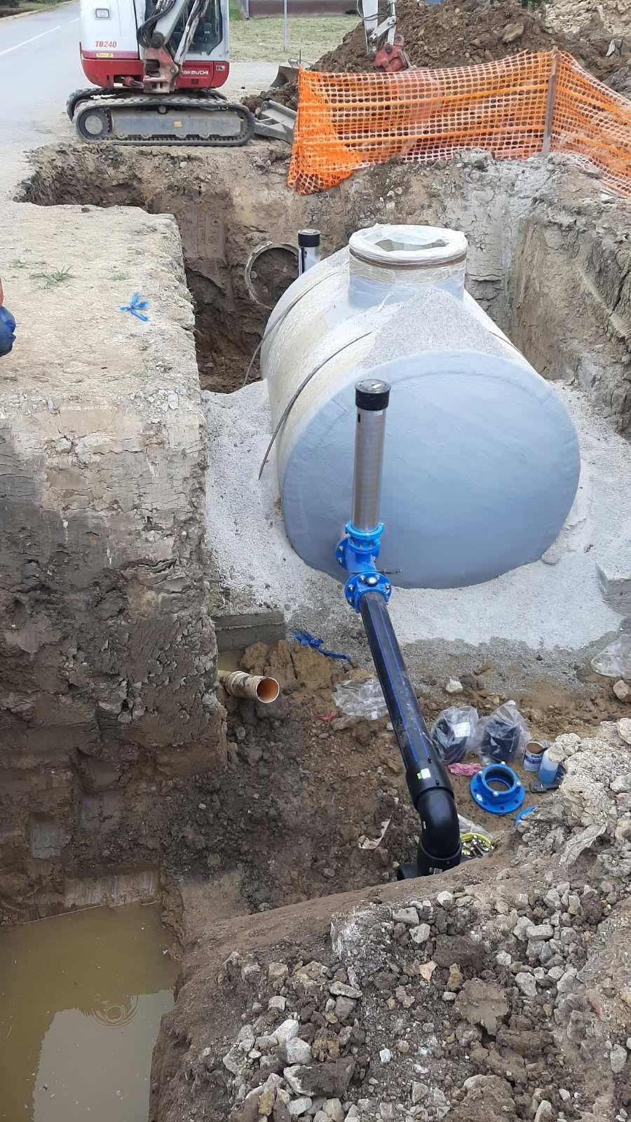 Slika 3: Radovi na izgradnji DMA okna – radove izvodi – Koming d.o.o. Koprivnica
