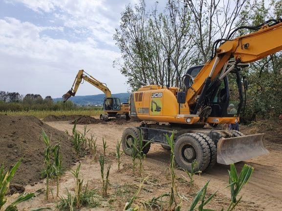 Slika 9: Radovi na kanalizacijskoj mreži u Osječkoj ulici u Požegi, - radove izvodi Niskogradnja Marjanović d.o.o. Kaptol.